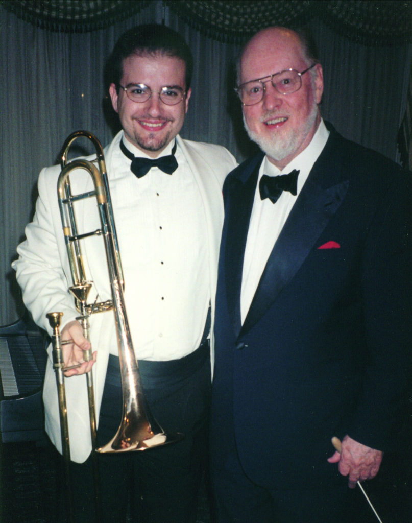 John Williams and me backstage at the Boston Pops 1999